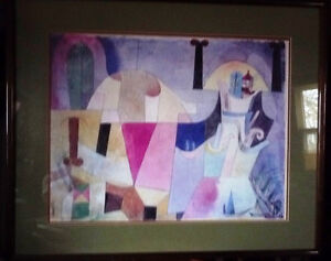 """Lithograph by Paul Klee """"Black Columns In A Landscape"""" 1919"""