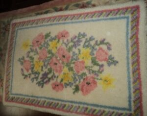 Decorative Hand hooked Rug 3ft x 4ft Sussex