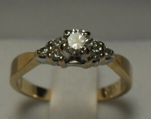 """Vintage - 14kt yellow gold .40 approx. tcw """"Diamond"""" Engagement"""