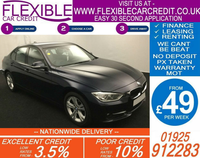 2012 BMW 320D 2.0 SPORT GOOD / BAD CREDIT CAR FINANCE FROM 49 P/WK