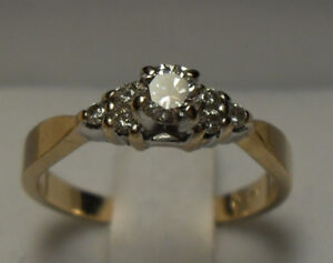 "Vintage/14kt  gold .40 approx. tcw ""Diamond"" Engagement Ring"