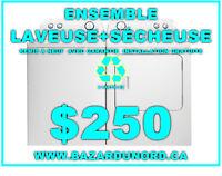 Laveuse/Secheuse a partir de $250/Washer/Dryer starting at $250