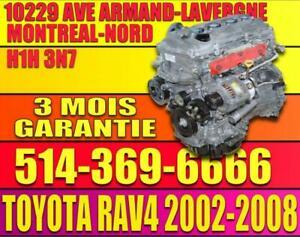 Moteur 2.4 4 Cylindres Toyota RAV4 02 03 04 05 06 07 08 installe