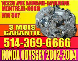 2002 2003 2004 2005 2006 HONDA ODYSSEY BYBA Transmission Automatique, Automatic Transmission 02 03 04 05 06 06