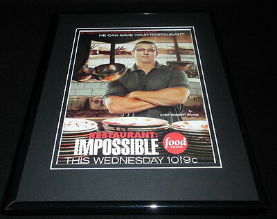 Restaurant Impossible 2011 Framed Original 11X14 Advertisement Food Network