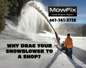 HOME VISITS! Snowblower Repairs • Mobil Small Engine • Lawnmower