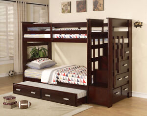SOLID WOOD BUNK BEDS FROM 349$ HUGE SALE SAVE$$$$4