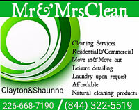 Sit down and relax and we will take care of the cleaning