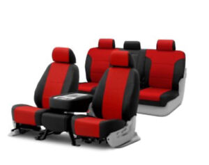 2015 red and black camero seat covers