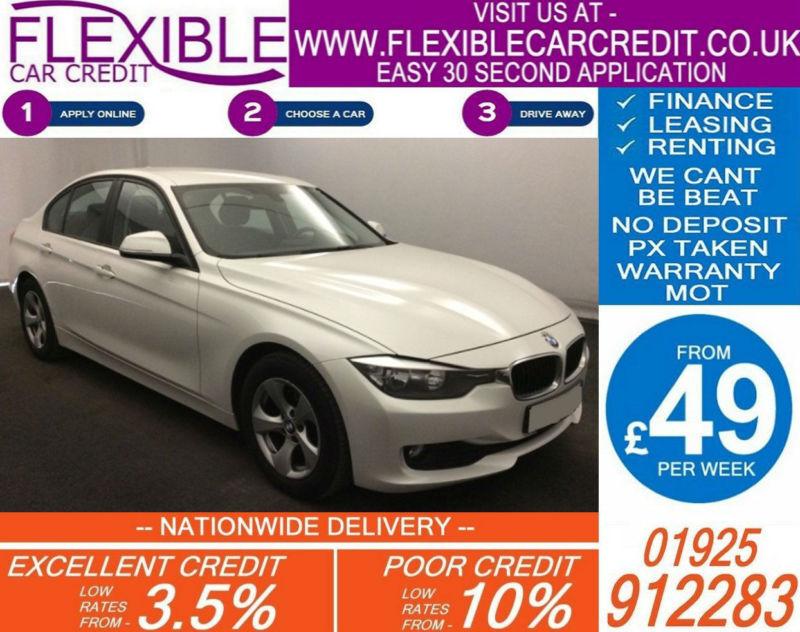 2013 BMW 320D 2.0 EFFICIENT DYNAMICS GOOD / BAD CREDIT CAR FINANCE FROM 49 P/WK