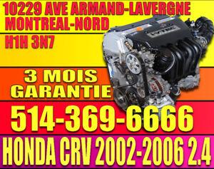 MOTEUR 2.4 HONDA CRV 4X4 AWD 2002-2003-2004-2005-2006 K24A3 K24A
