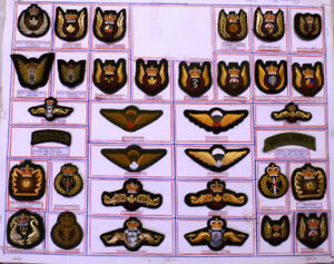 Canadian military mixed wings and bullion qualification badges