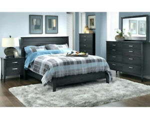 Charcoal Grey 4-piece bedroom set