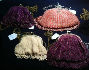 Vintage Style Knitted/beaded Bags