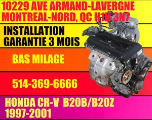 MOTEUR B20B HONDA CRV 800$ INSTALLE, 2.0 AWD 97 98 99 2000 2001