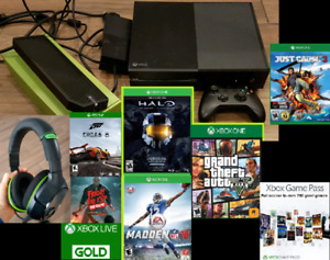 XBOX One 500gb with games and accessories trade for PS4 bundle