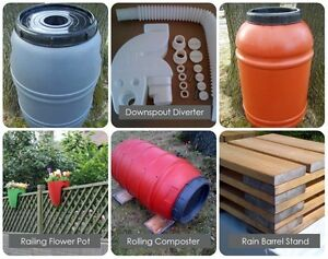 Rain barrels, composters and accessories for sale