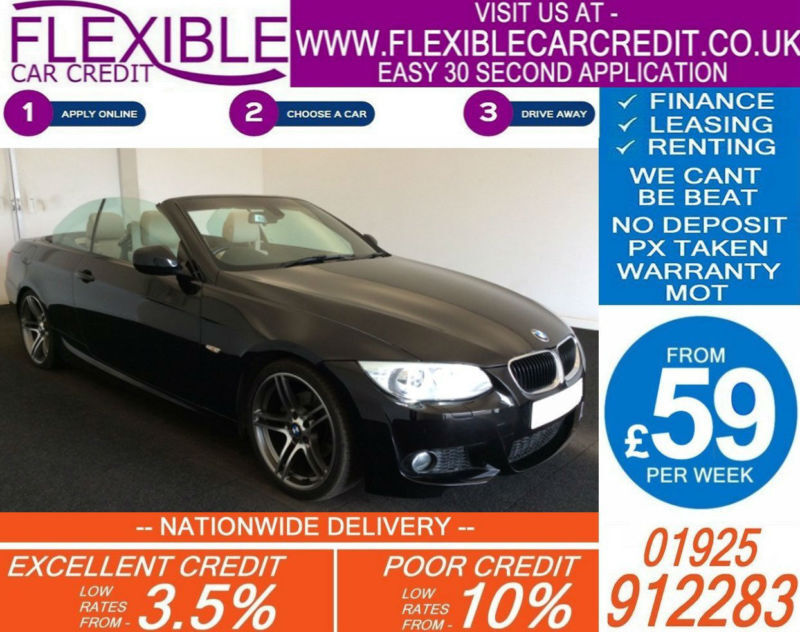 2012 BMW 320D SPORT PLUS CONVERTIBLE GOOD / BAD CREDIT CAR FINANCE AVAILABLE