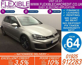 2014 VW GOLF 2.0 TDI GTD GOOD / BAD CREDIT CAR FINANCE AVAILABLE