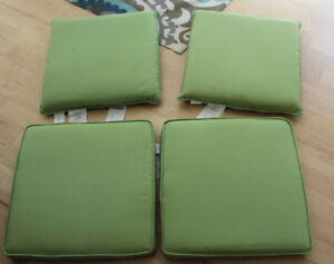 Cushions for 4 patio conversation chairs