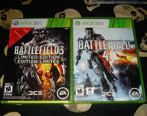Battlefield 3 & 4 For Xbox 360