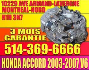 2003 2004 2005 2006 2007 Transmission Automatique Honda Accord V