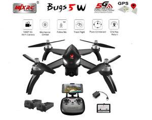 MJX Bugs B5W 1080P 5G WiFi FPV Camera GPS RC DroneTwo Batteries