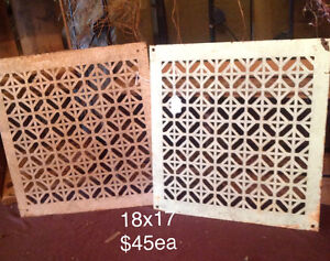 Cast iron floor and wall grates London Ontario image 4