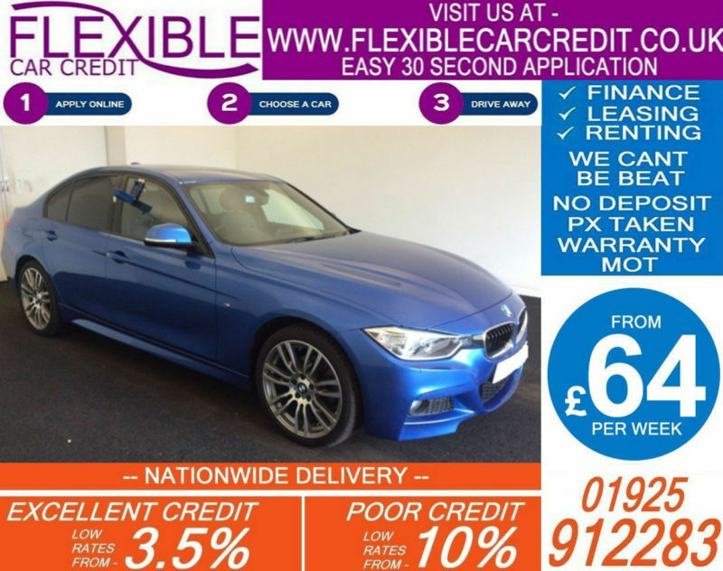 2015 BMW 320D XDRIVE M-SPORT GOOD BAD CREDIT CAR FINANCE FROM 69 P/WK