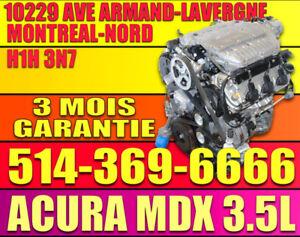 MOTEUR ACURA MDX V6 2001-2002-2003-2004-2005-2006 J35A
