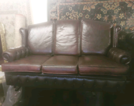 Oxblood Chesterfield 3 Seater Cushion Back Sofa