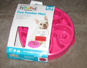 NEW Outward Hound Fun Feeder Mini 6+months Pink