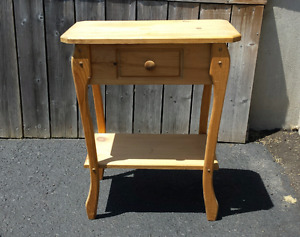 Small Solid Wood Side Table