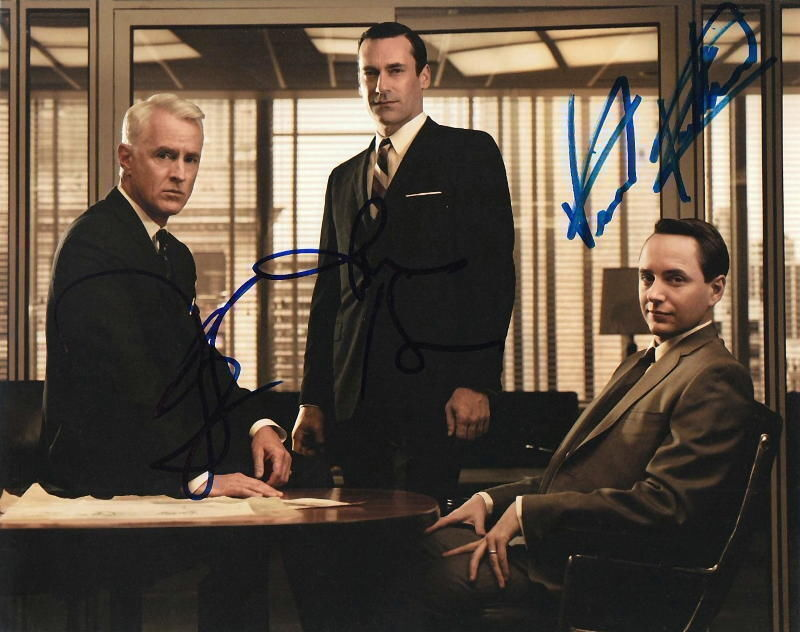 MAD MEN.. Jon Hamm, Vincent Kartheiser, and John Slattery - SIGNED