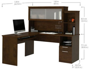 Office desk / L-Shaped / Brown / Bestar / Made in Canada