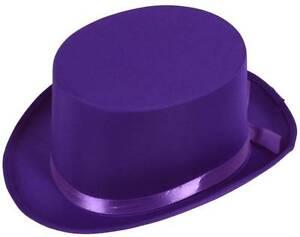 Top-Hat-Purple-Satin
