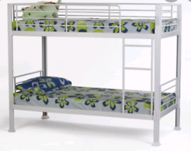 Shorty bunk bed and mattresses Good condition Delivery available e
