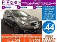 2012 NISSAN QASHQAI+2 1.5 DCI N-TEC GOOD / BAD CREDIT CAR FINANCE FROM 44 P/WK