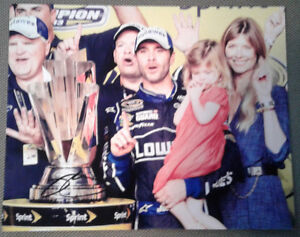 signed Nascar Pictures Jimmie Johnson / Dale Jr / Chase Elliot