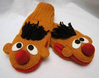 deLux ERNIE MITTENS Sesame Street ADULT puppet LINED costume berts friend - Bert Sesame Street Costume