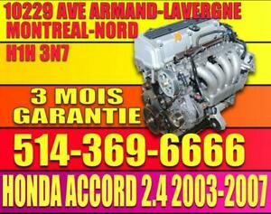 MOTEUR 2.4 HONDA ACCORD 2003 2004 2005 2006 2007 K24A3 K24A4 Honda Accord 2.4 Engine VTEC 4 Cylinder Motor  04 05 06 07