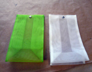 Packaging items - wholesale lot of 92 nylon mesh bags