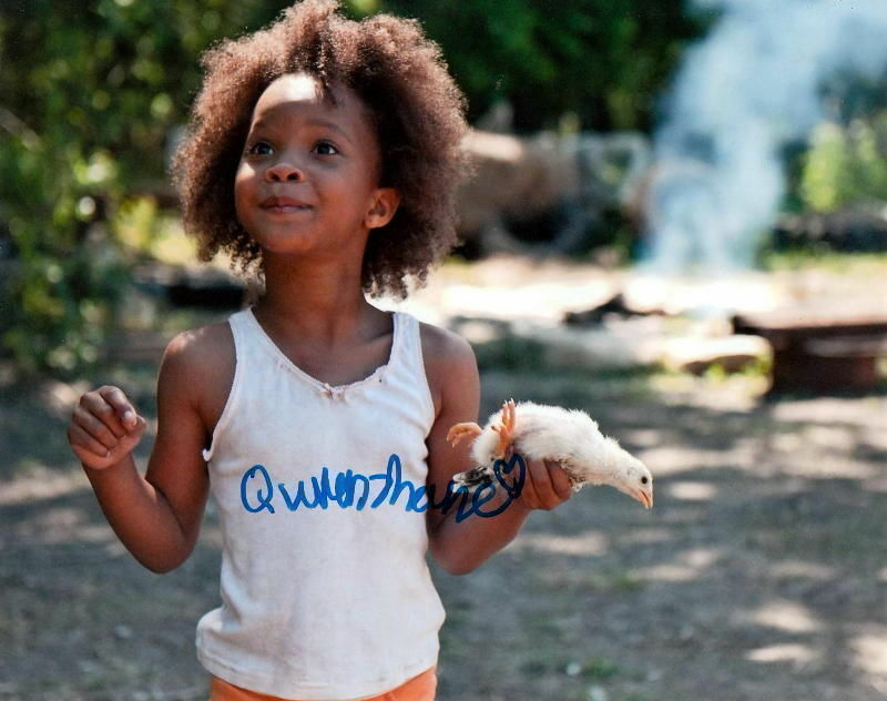 QUVENZHANE WALLIS.. Academy Award's Youngest Nominee (Southern Wild) SIGNED