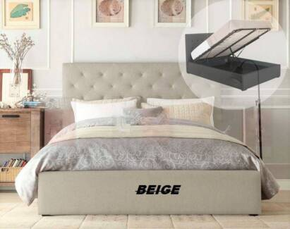 Brand new gas lift bed with storage space from $350 FREE DELIVERY