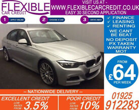 2014 BMW 320D 2.0 M-SPORT GOOD / BAD CREDIT CAR FINANCE FROM 64 P/WK