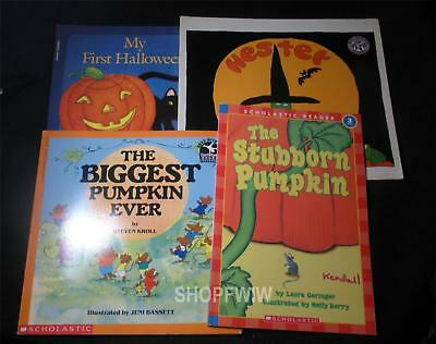 Lot of 4 Childrens Softcover Halloween Books