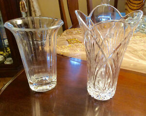 2 Beautiful Crystal Vases West Island Greater Montréal image 1
