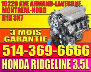 MOTEUR HONDA RIDGELINE 2006-2007-2008 3.5 V6 AWD 4X4