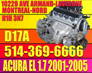 2001-2002-2003-2004-2005 ACURA EL 1.7 ENGINE, D17A2