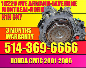 01-02-03-04-05 Honda Civic Transmission automatique installe